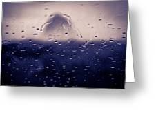 Haystack Rock Rain Greeting Card