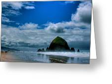 Haystack Rock V Greeting Card