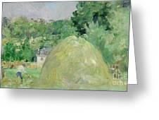 Haystacks At Bougival Greeting Card