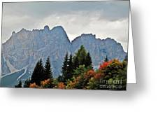 Haze And The Dolomites Greeting Card