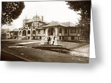 Hazel Hawkins Hospital Monterey Street Hollister California Circa 1907 Greeting Card