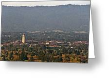 Hazy Autumn Day At Stanford University Greeting Card