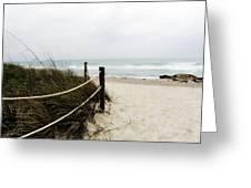 Hazy Beach Day Greeting Card by Julie Palencia