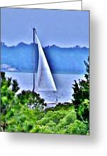 Hazy Day Sail Greeting Card