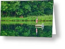 Hazy Summer - Patriotic Dock Greeting Card