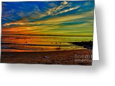 hd 329 Surfboard In The Sand-edted version Greeting Card