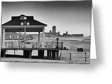 Hdr Beach Boardwalk Photos Pictures Art Sea Ocean Photograph Scenic Landscape Black White Greeting Card