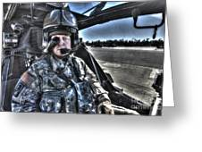 Hdr Image Of A Pilot Equipped Greeting Card