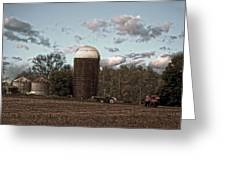 Hdr Image The Farmers Silo Greeting Card