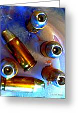 Bullet Art - Hdr Photography Of .32 Caliber Hollow Point Bullets Art 4 Greeting Card