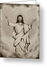 He Is Risen Greeting Card by Catherine Howley