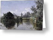 The Lake In Friesland Greeting Card