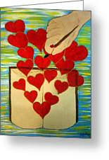 He Writes His Word On Our Heart Greeting Card