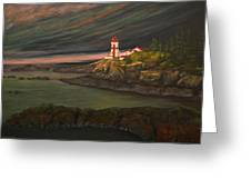Head Harbour East Quoddy Light Greeting Card