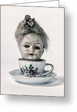 Head In Cup Greeting Card
