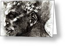 Head Of A Satyr  Greeting Card