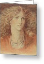 Head Of A Woman Called Ruth Herbert Greeting Card