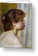 Head Of A Young Woman Greeting Card