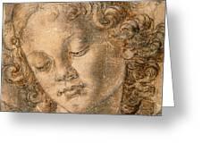 Head Of An Angel Greeting Card