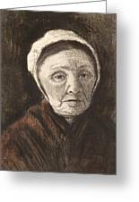 Head Of An Old Woman In A Scheveninger Greeting Card