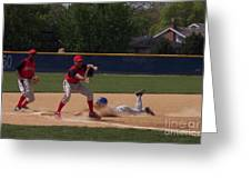 Head Slide In Baseball Greeting Card