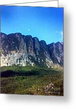 Head Wall Of Mount Roriama Greeting Card by Steven Valkenberg