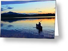 Heading Out At Sunset Greeting Card