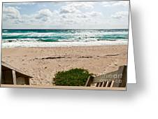 Heading To The Beach Manalapan Florida Greeting Card