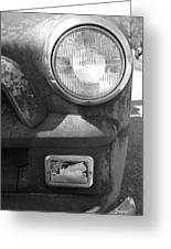 Headlight Of The Past Greeting Card