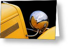 Headlight Reflections In A 32 Ford Deuce Coupe Greeting Card