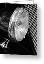 headlight205 BW Greeting Card