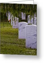 Headstones Of Arlington Cemetery Greeting Card