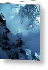 Headwall Mount Blanc Greeting Card