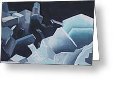 Healing Blue Crystals Greeting Card