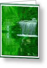 Healing In Green Waters Greeting Card