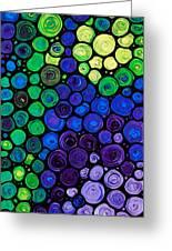 Healing Light - Mosaic Art By Sharon Cummings Greeting Card
