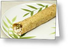 Healthy Burrito On A Plate Greeting Card
