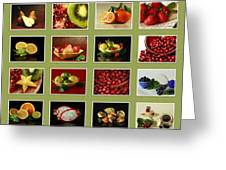 Healthy International Fruits Collection Greeting Card