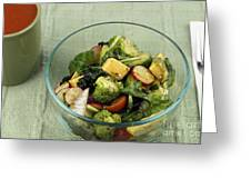 Healthy Mixed Salad Greeting Card