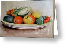 Healthy Plate Greeting Card
