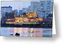 Hean Boo Thean Temple At Blue Hour Greeting Card