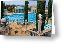 Hearst Castle Neptune Pool Greeting Card