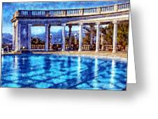 Hearst Castle Pool Greeting Card