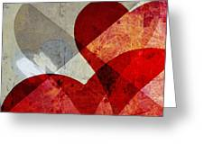 Hearts 8 Square Greeting Card