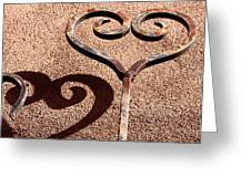 Heart And Shadow Greeting Card