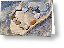 Heart And Stones  Greeting Card