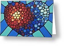 Heart Art - Love Conquers All 2  Greeting Card
