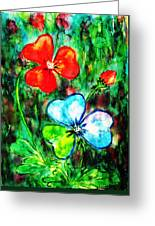 Heart Flowers Greeting Card