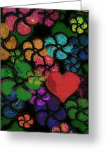 Heart In Flowers Greeting Card