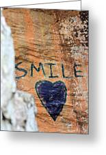 Heart In Sandstone Mountain Greeting Card